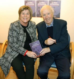 Jack Kelly with Mary Butler, TD, who launched his book