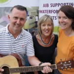 Alan Browne, Music Co-ordinator, WHAT; Carol Normoyle, Branch Manager, AIB Ardkeen & Claire Meaney, Acting Arts Director, WHAT
